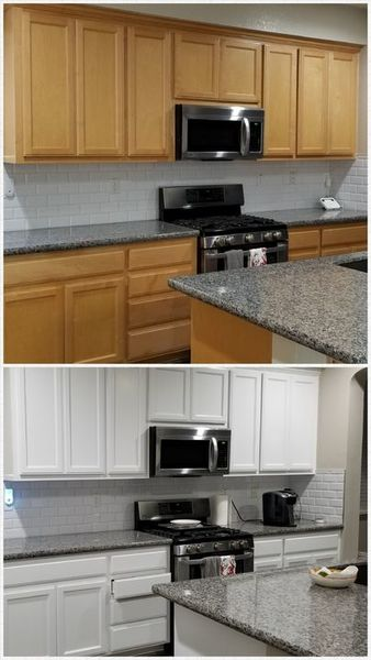 Before & After Cabinet Painting in Tracy, CA (1)
