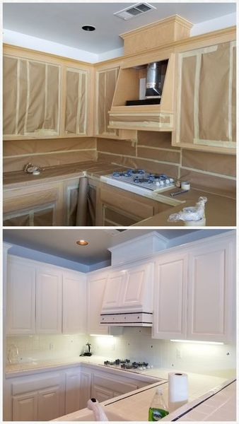 Before and After Cabinet Painting in Copperopolis, CA (1)