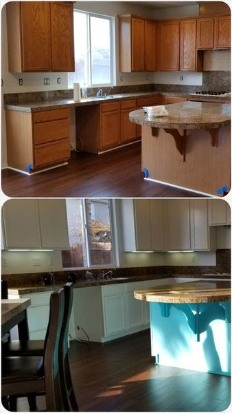 Before & After Cabinet Painting in Patterson, CA (1)