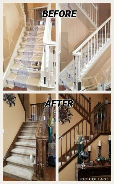 Before & After Banister Painting in Ceres, CA (1)