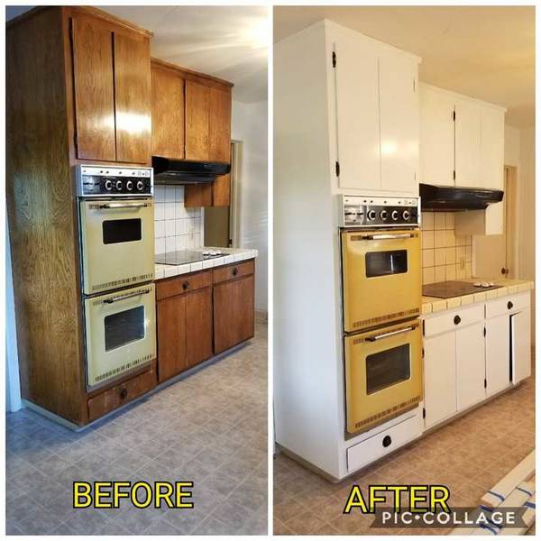 Before & After Cabinet Painting in Riverbank, CA (1)