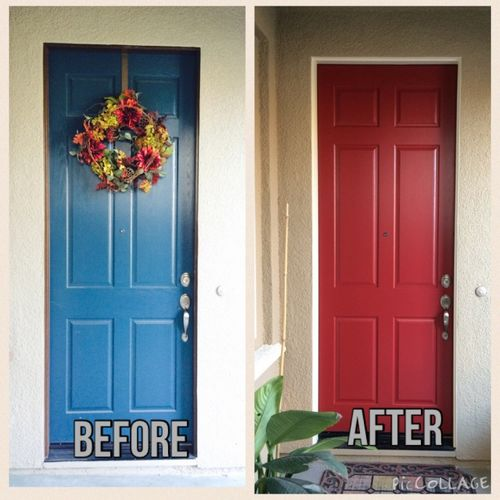 Before and After Door Painting Services Tracey, CA