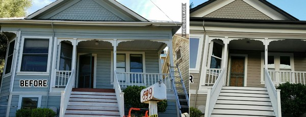 Before & After Exterior Painting a Victorian House in Sonora, CA (1)