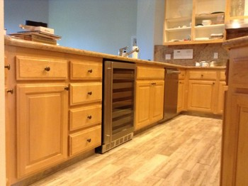 Before and After Cabinet Refinishing Del Rio, CA