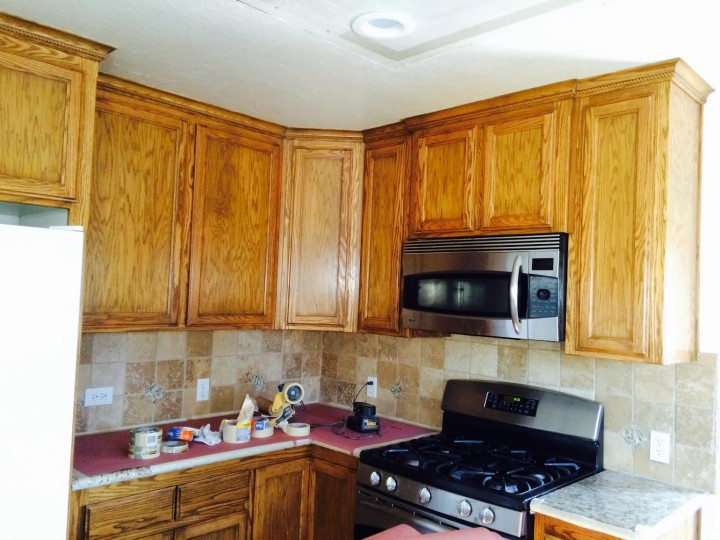 Cabinet Refinishing by New Look Painting in Oakdale, CA