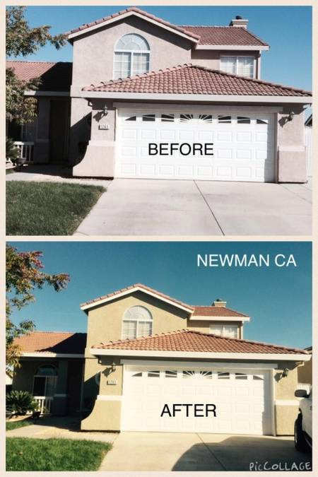 Before and After Exterior Painting in Newman, CA